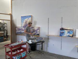 Jivan Lee in his studio